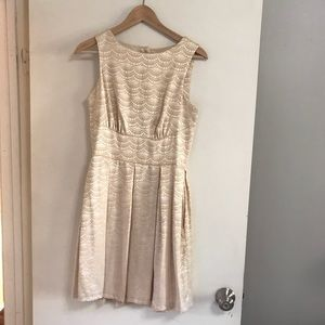 champagne color cocktail dress